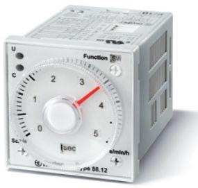 Przekaźnik czasowy 2CO 5A 24-230V AC/DC, Wielofunkcyjny AIa, AIb, DIa, Dib, GI, SW 88.12.0.230.0002