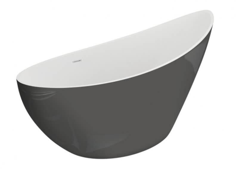 Polimat wanna wolnostojąca Zoe 180x80 cm stylowy grafit 00409