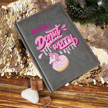 Donut worry - notatnik A5 z nadrukiem