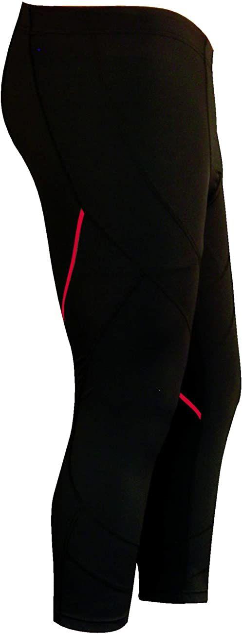 IZAS legginsy 3/4 Argus Unisex czarny/czerwony XS