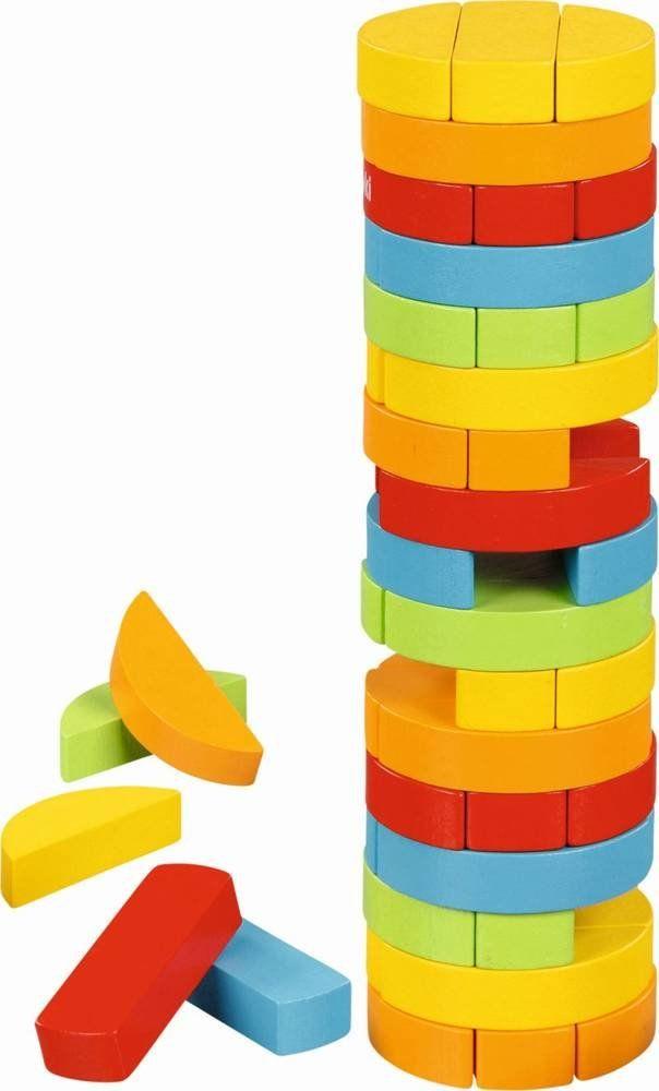 Drewniana gra Upadająca wieża rondo 56757-Goki, gry zręcznościowe
