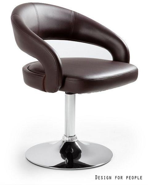 Krzesło barowe Stilo brązowe Unique