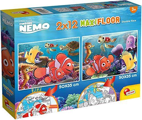 Lisciani Giochi - Disney Puzzle Supermaxi 2 x 12 Nemo Puzzle dla dzieci, 86580