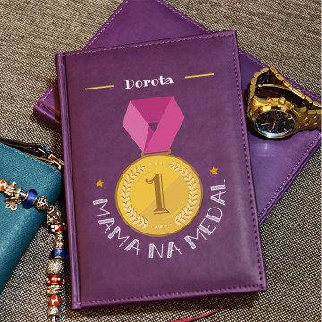 Mama na medal - notatnik A5 z nadrukiem