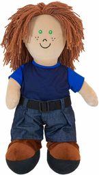 Miękki lalka z tkaniny, lalka do nauki, chłopiec europejski - 96301