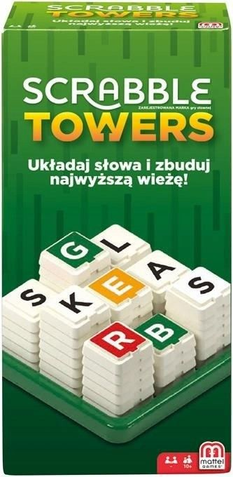 Mattel - Gra Scrabble Towers GDJ16