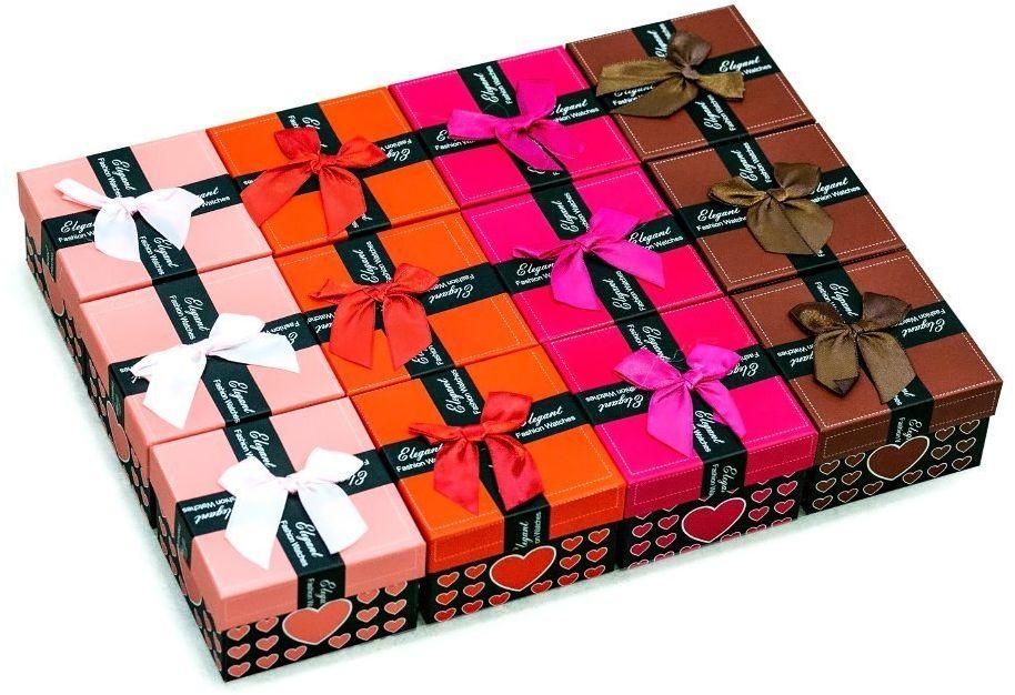 Zestaw pudełek prezentowych - serduszka 12szt