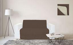 Marrone/Panna narzuta na sofę, wodoodporna, 2 siedzenia