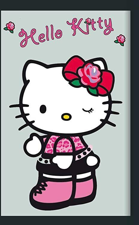 empireposter - Hello Kitty - Róża - Rozmiar (cm), ok. 20x30 - Lustro z nadrukiem, NOWOŚĆ - Opis: - Lustro ścienne z czarną ramą z tworzywa sztucznego o wyglądzie drewna -
