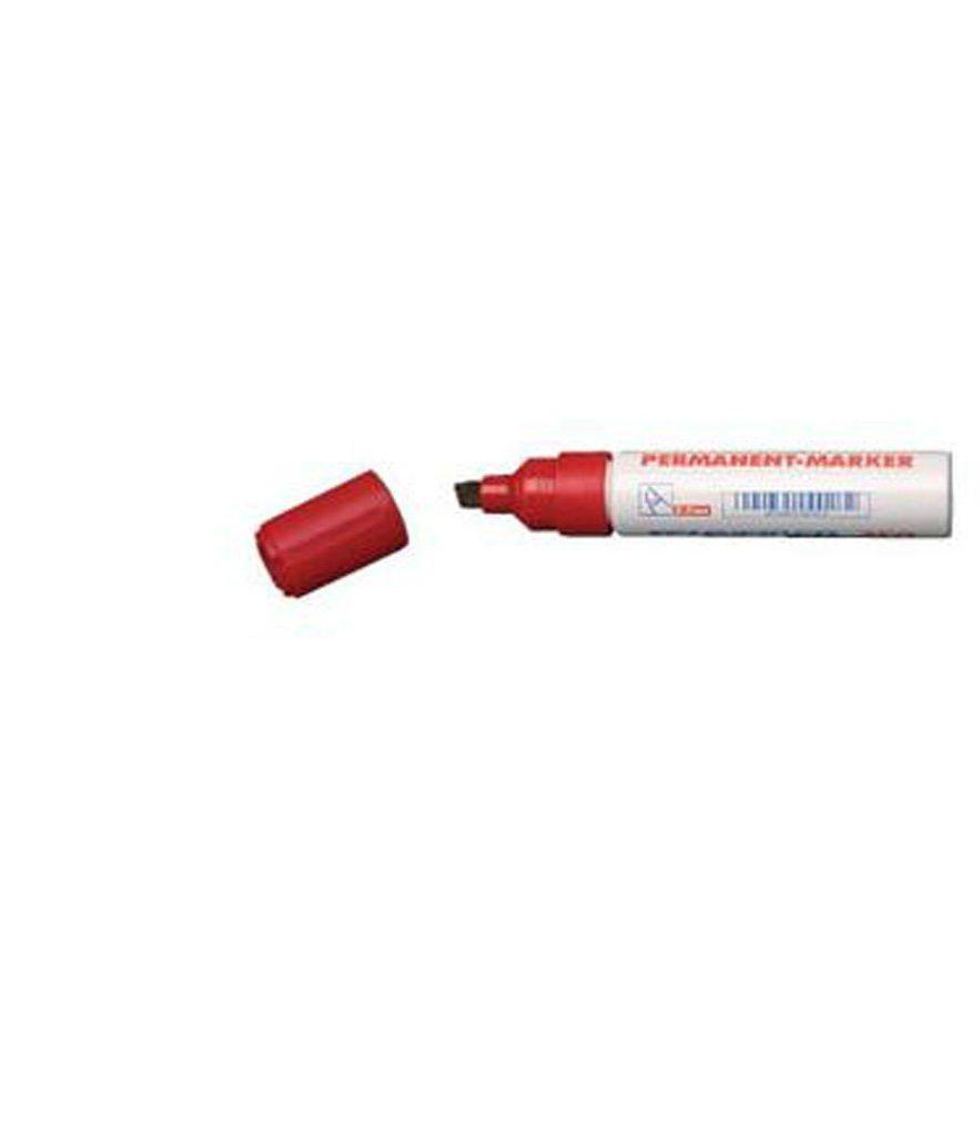 Marker z ściętą główką czerwony