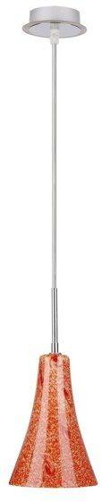 Candellux RUFI 31-14644 lampa wisząca chrom satyna nikiel szklany klosz 1X40 W E14