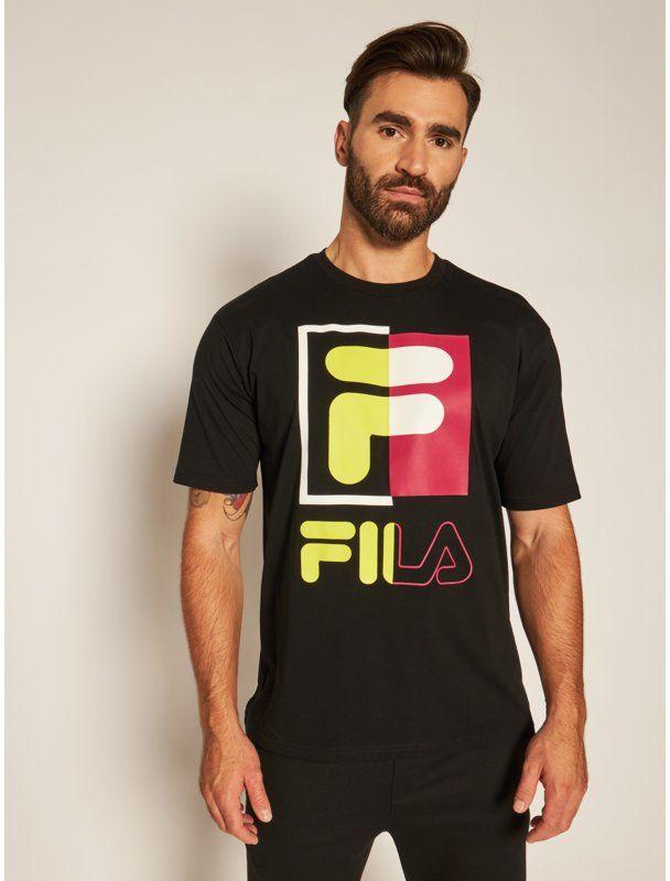 Fila T-Shirt Saku 687475 Czarny Regular Fit