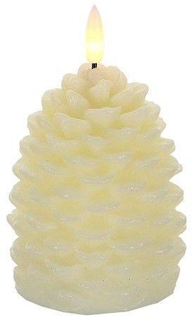 Świeca LED w kształcie szyszki Świeca Woskowa 7,5x13 cm
