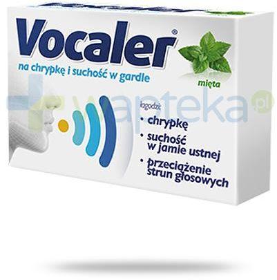 Vocaler na chrypkę i suchość w gardle smak mięty 12 pastylek