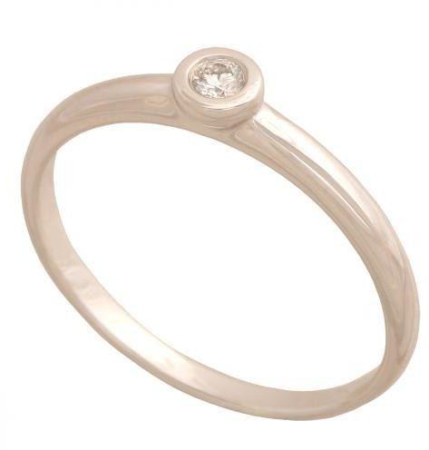 Złoty pierścionek z brylantem Dp121b