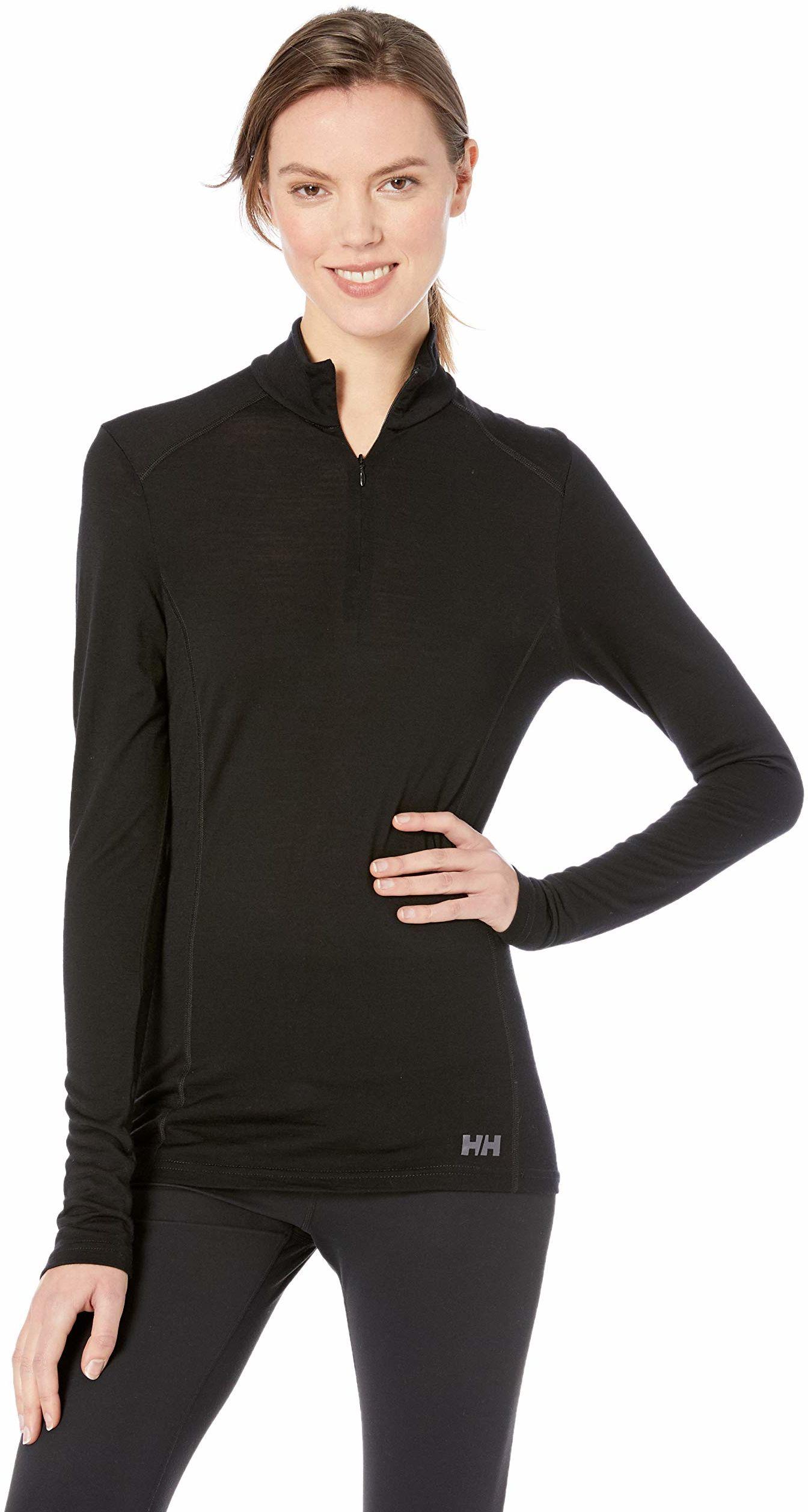 Hellyhansen damska bluza z zamkiem błyskawicznym 1/2, czarna, XL