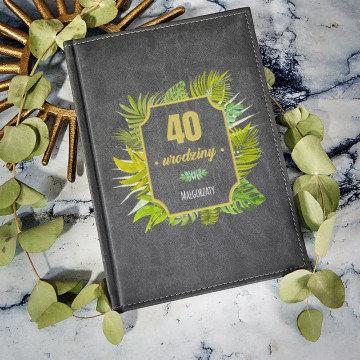 Urodziny paproć - notatnik A5 z nadrukiem