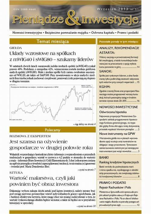 Pieniądze i Inwestycje wrzesień 2013 nr 51 - No author - ebook