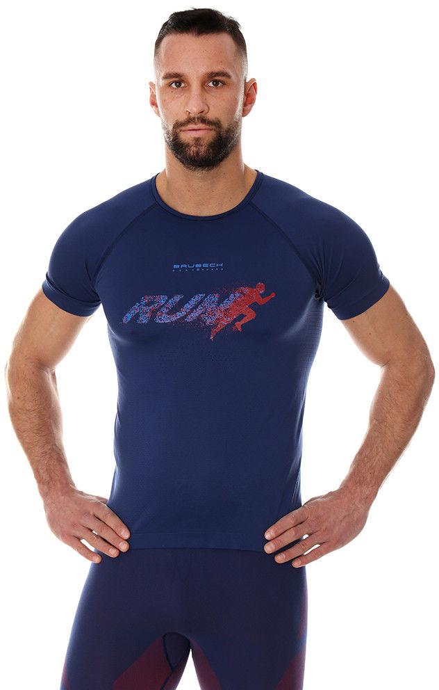 Męska koszulka do biegania Brubeck RUNNING AIR PRO SS13280 navy blue