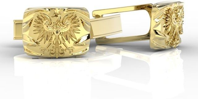 Spinki do mankietów z żółtego i białego złota insigne sjspm-13z