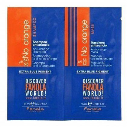 Fanola No Orange do ciemnych włosów szampon + maska 2x15ml