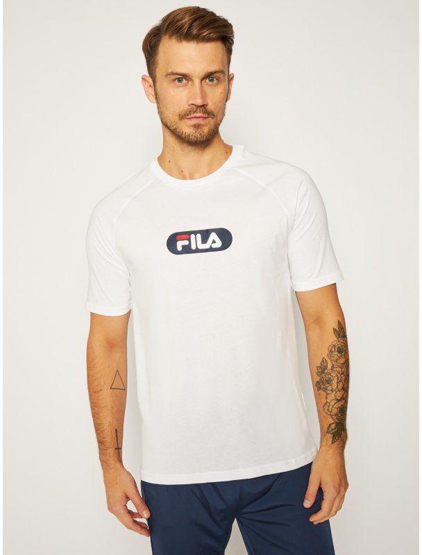 Fila T-Shirt Bane Raglan 687962 Biały Regular Fit