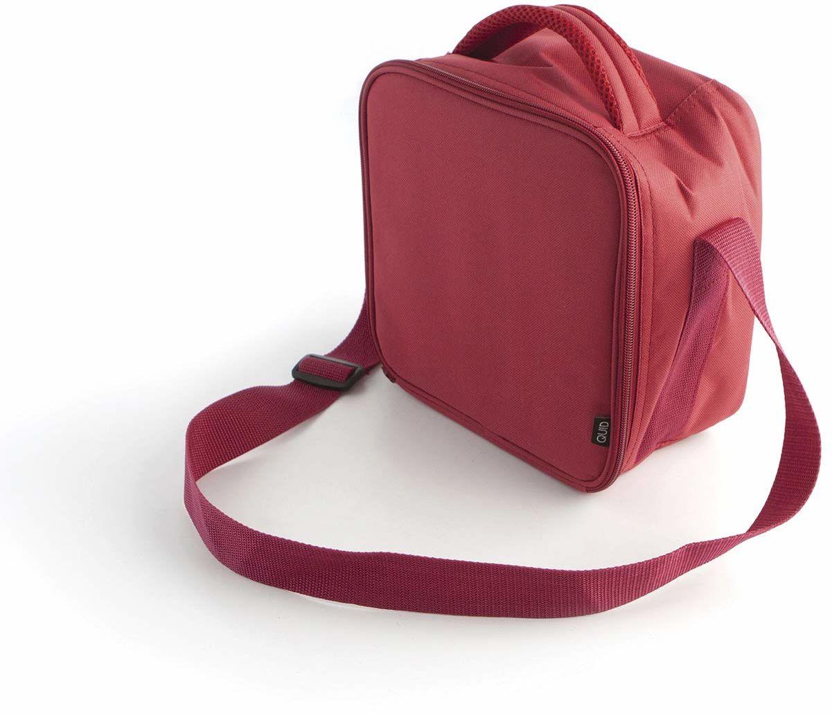 Quid Go Lunch torba piknikowa z pojemnikiem, 19 x 14 x 26 cm centymetr ciemnoczerwony