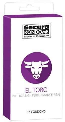 Prezerwatywy ze zintegrowanym pierścieniem - secura el toro - 12 sztuk