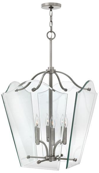 Lampa wisząca Wingate HK/WINGATE/P/L Hinkley transparentna oprawa w dekoracyjnym stylu