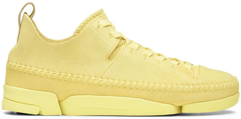 Buty sportowe damskie Clarks Trigenic Flex żółte261391504