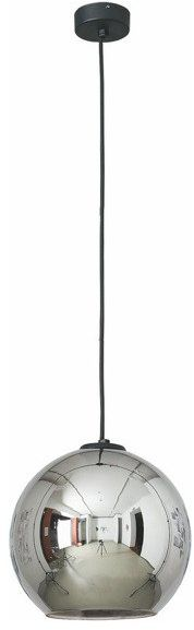 Lampa wisząca zwis kula POLARIS I chrom śr. 25cm