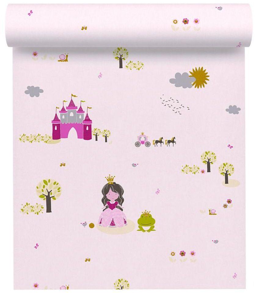 Tapeta dla dzieci MULKI różowa winylowa na flizelinie
