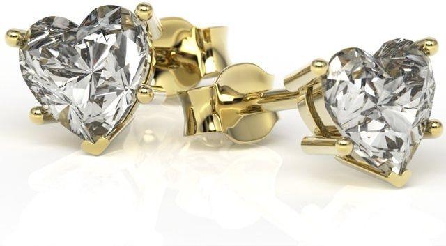 Kolczyki z zółtego złota z białymi topazami lpk-74z