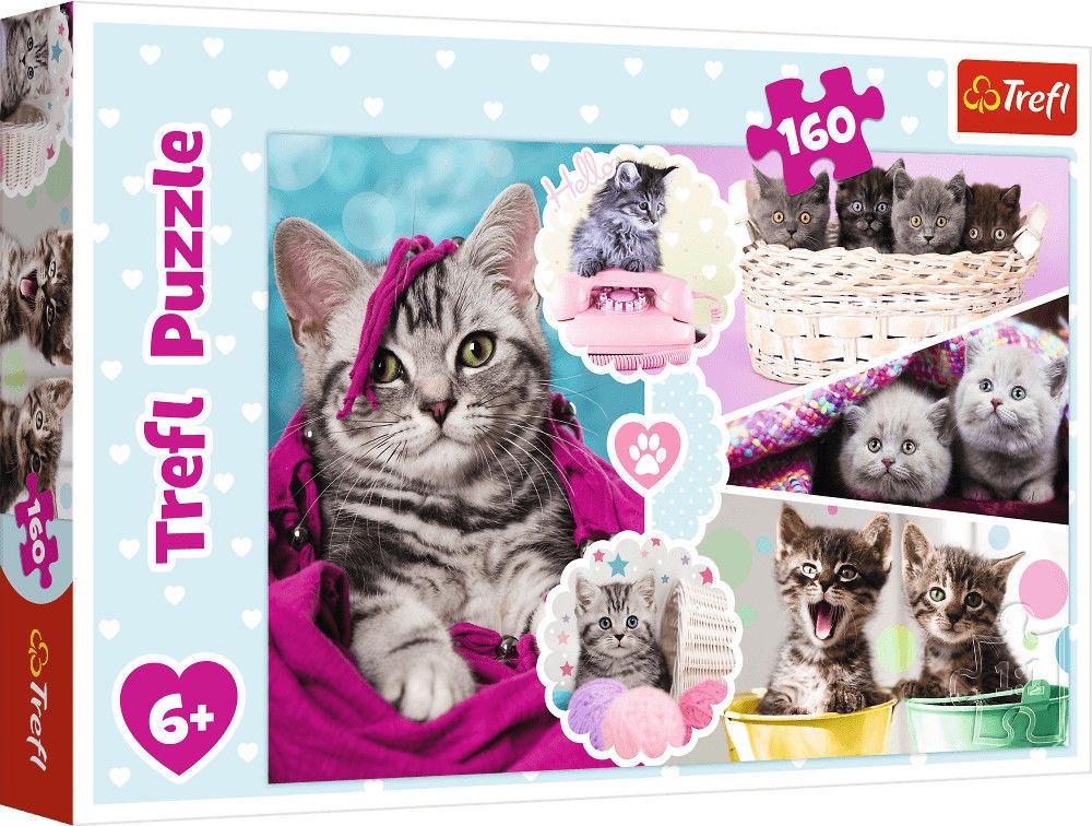 Puzzle Trefl 160 - Urocze kotki, Lovely kittens