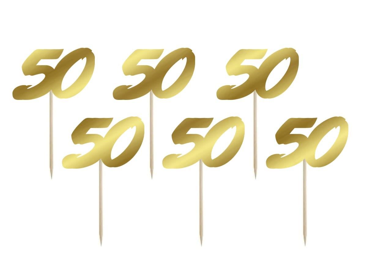 Pikery na tort 50 - 6 szt.