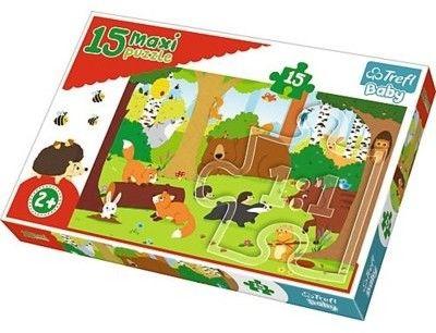 Puzzle dla dzieci Trefl 15 MAXI - Zwierzęta w lesie, Animals in the forest
