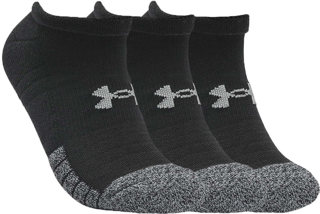 Under Armour HeatGear No Show Socks 3-Pack 1346755-001 Rozmiar: 36-41 1346755-001