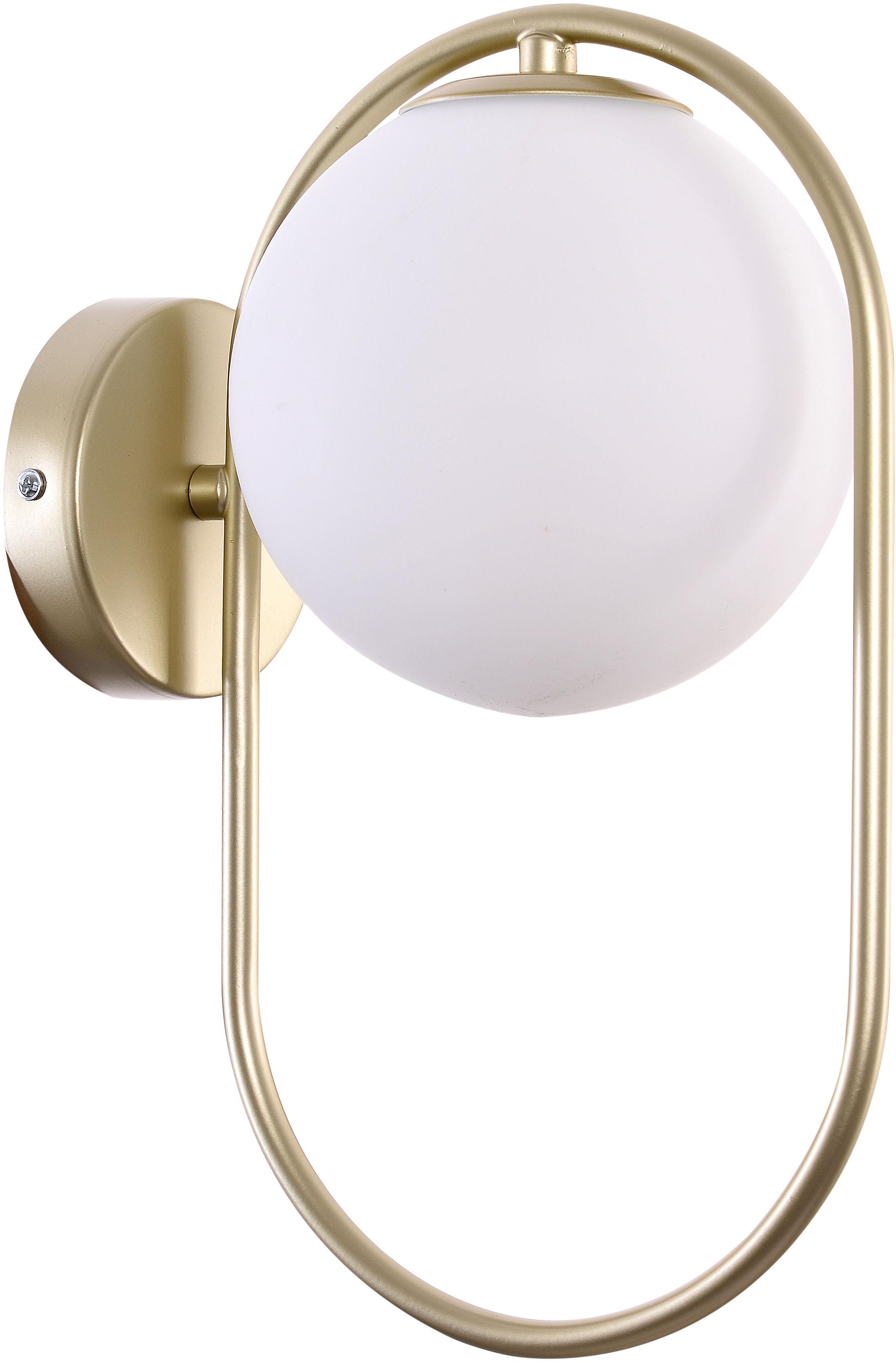 Candellux CORDEL 21-73440 kinkiet lampa ścienna ring mosiądz klosz szklany 1X28W G9 15 cm