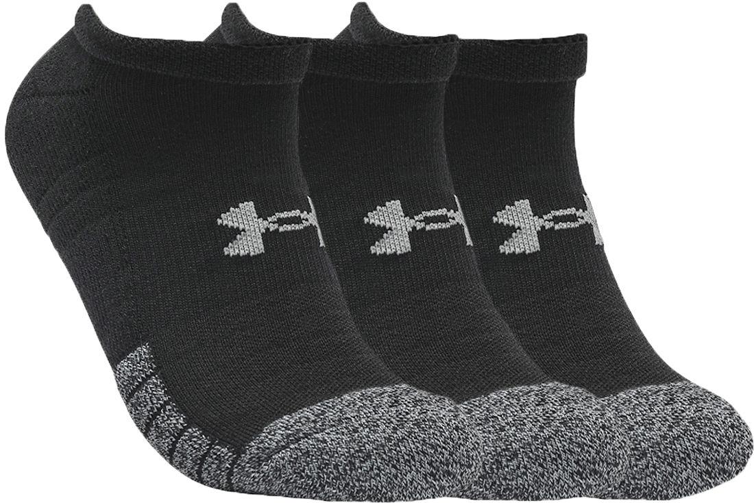 Under Armour HeatGear No Show Socks 3-Pack 1346755-001 Rozmiar: 42-46 1346755-001