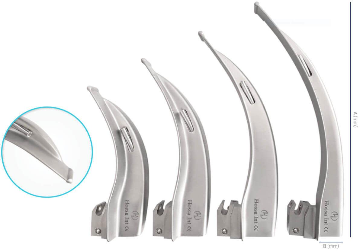 Łyżki do laryngoskopów Macintosh i Miller