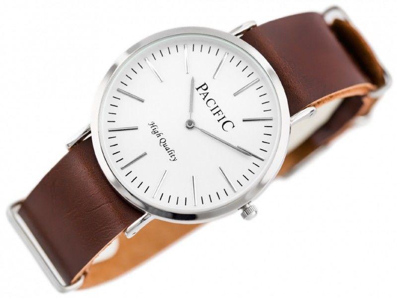 Damski zegarek na pasku ciemnobrązowym PACIFIC A268 (zy554c)