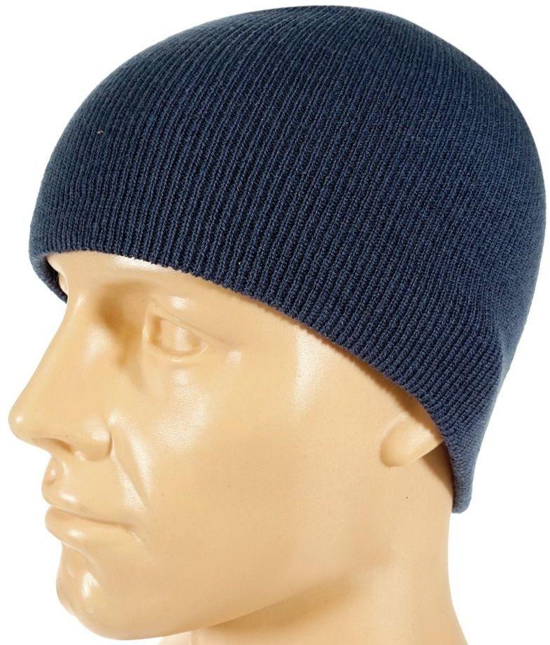 Klasyczna Jesienno-Zimowa Męska Czapka, Kolor Jeans, Niebieska, Zwykła CPAPJNSZ54jeans