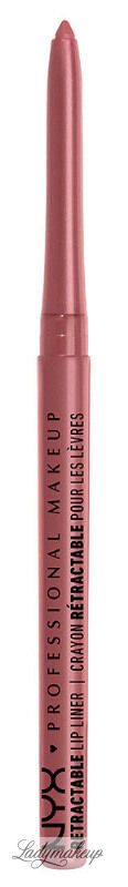 NYX Professional Makeup - RETRACTABLE LIP LINER - Wodoodporna konturówka do ust - 06 - NUDE PINK