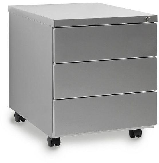 Kontener biurowy 424 srebrny Unique