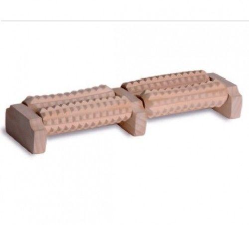 Tylmed Masażer drewniany do stóp dwurzędowy 4-rolkowy MS-2A