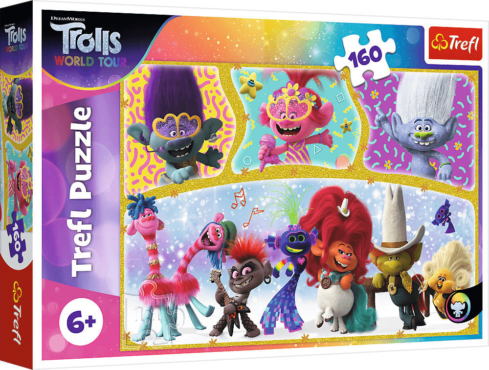 Puzzle Trefl 160 - Wesoły świat Troli, The happy world of Trolls