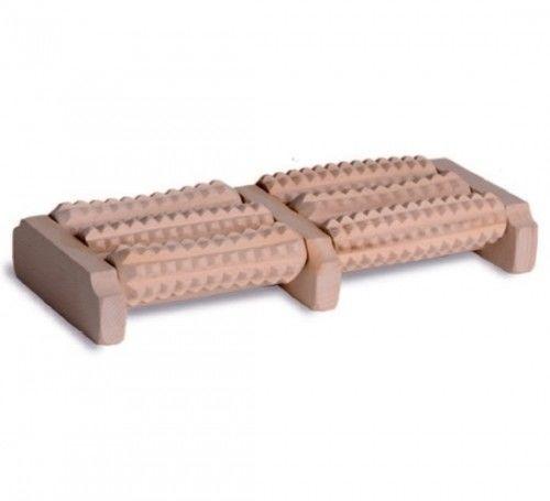 Tylmed Masażer drewniany do stóp dwurzędowy 6-rolkowy MS-3A