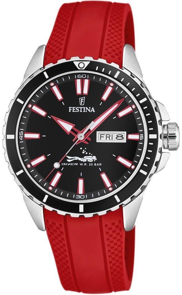 Zegarek Festina F20378-6 Diver Sport 200m - CENA DO NEGOCJACJI - DOSTAWA DHL GRATIS, KUPUJ BEZ RYZYKA - 100 dni na zwrot, możliwość wygrawerowania dowolnego tekstu.