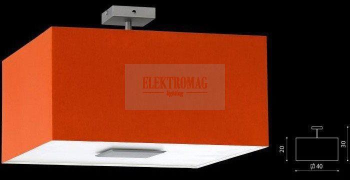 Plafon Calipso pomarańczowy Ramko