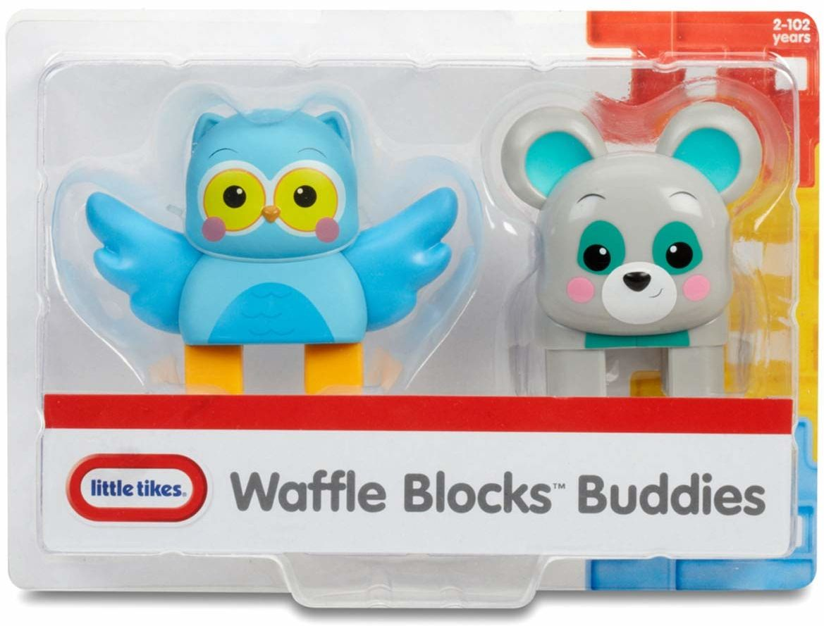 little tikes Waffle Blocks 2 figurki, sowa i niedźwiedź